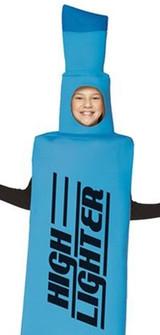 Highlighter Blue Kids Costume