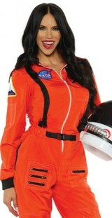 Astronaut Womens Orange Costume