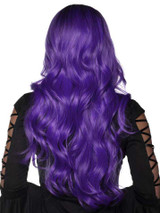 Purple and Black Ombre Wig Washable