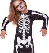Skeleton Dress Girls Costume