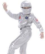 Silver Astronaut Kids Costume