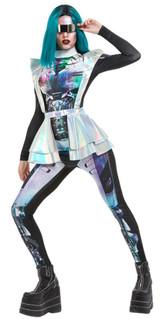 Metallic Space Alien Women Costume