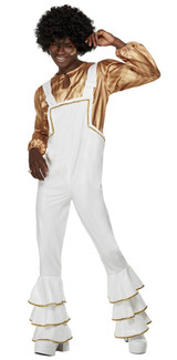 70s Glam White Men Costume