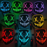 Stitched Neon Red Light Mask