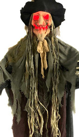Sonic Scarecrow Witch Burlap Face Light up 6ft