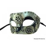 Steampunk Silver Venetian Mask