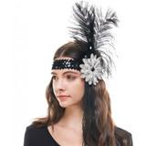 Flapper Headband Feathers & Beads