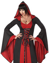 Deluxe Hooded Black/Red Robe - Plus Size