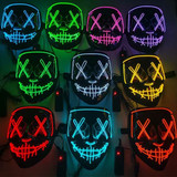 Stitched Neon Green Light Mask