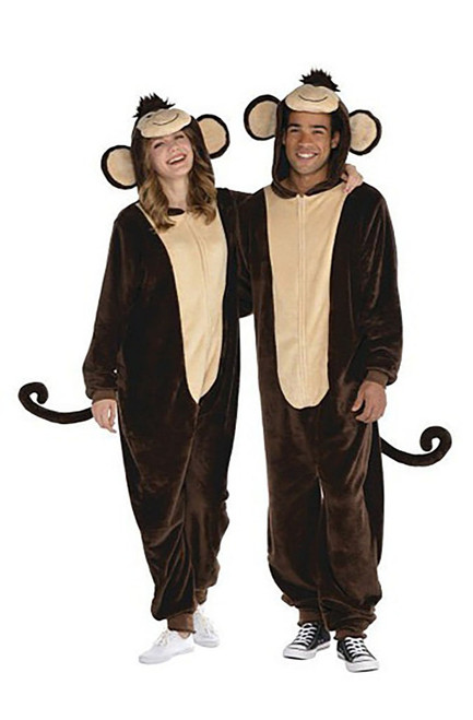 Monkey Zipster Adult Costume