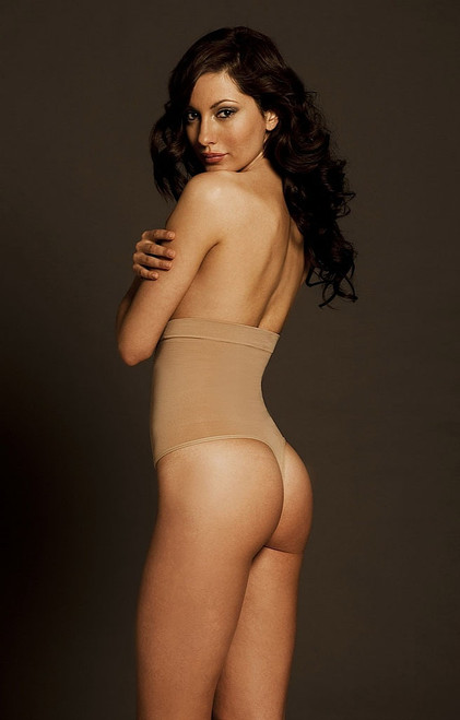Pin Thigh High Waist Thong Nude