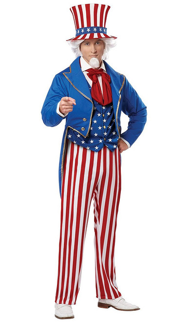 Deluxe Uncle Sam Adult Costume