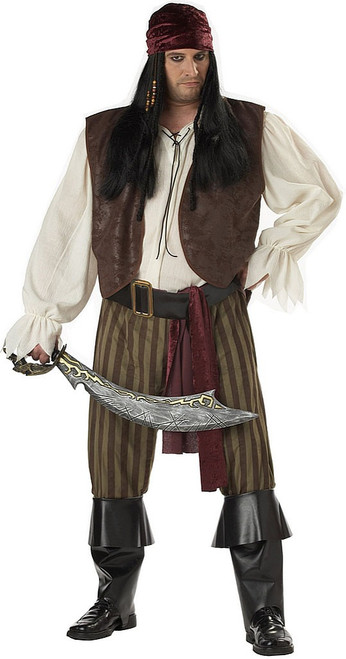 Rogue Men Pirate Costume Plus