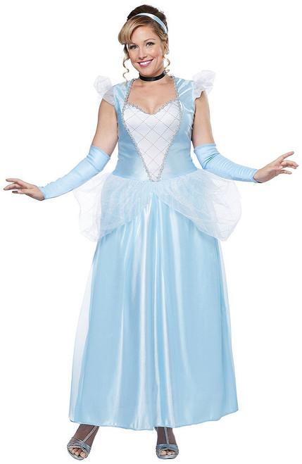 Plus Cinderella Womens Princess Costume