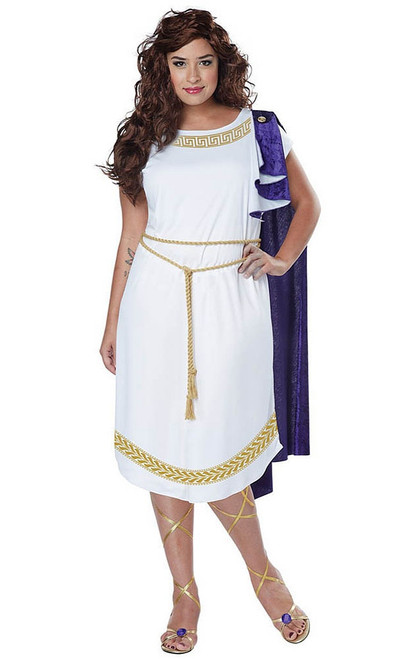 Plus Size Grecian Toga Dress
