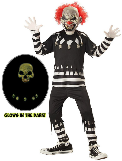 Childrens Creepy Clown Costume