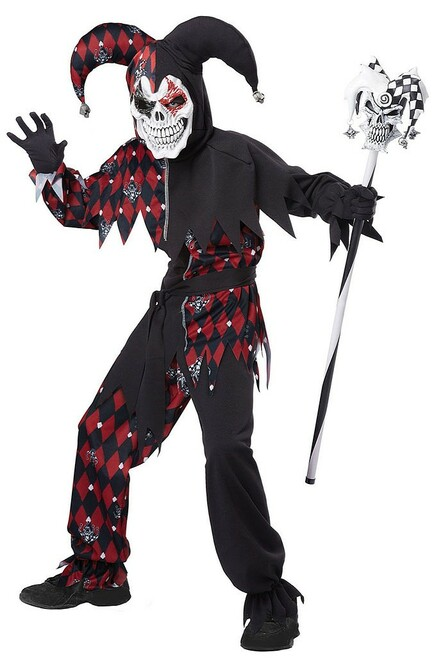 Sinister Jester Costume Child