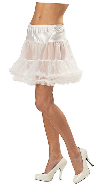 Ruffled Pettiskirt White Adult