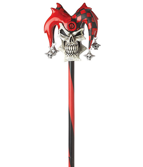 Psycho Jester Cane Red Black