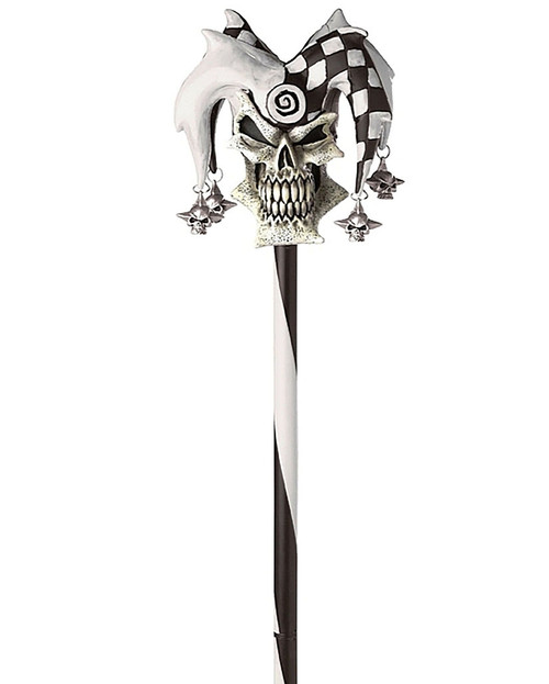 Psycho Jester Cane Black White