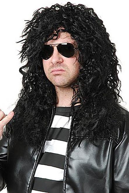 Heavy Metal Rocker Black Wig
