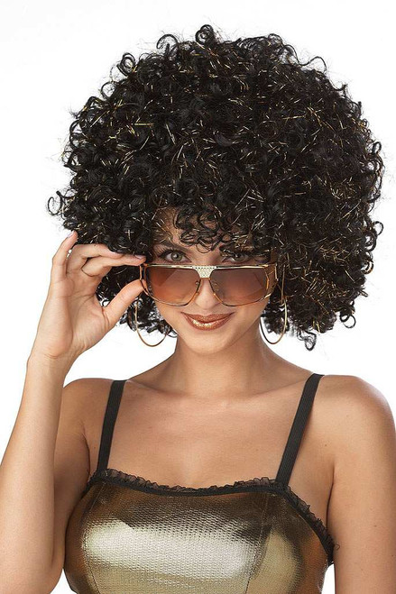 Disco Glitter Black/Gold Wig