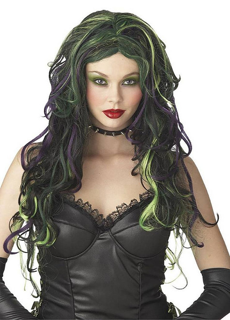 Wicked Witch Green & Black Wig