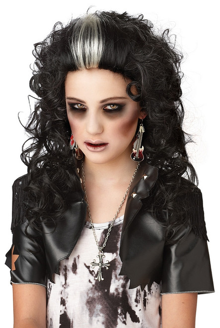 Rocked out Black Zombie Wig
