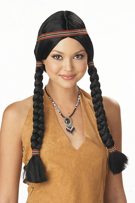 Indian Maiden Black Wig