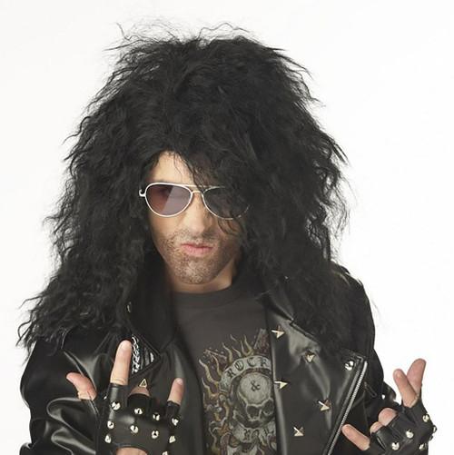 Hard Rocker Black Wig