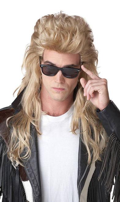 80's Blonde Rock Mullet