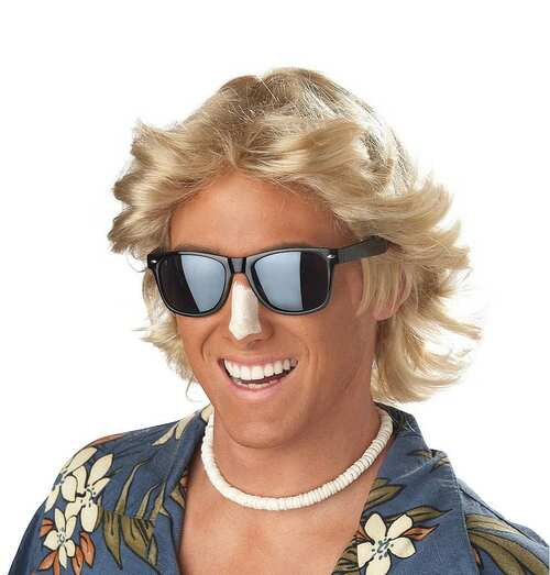 70's Feathered Hair Wig Blonde