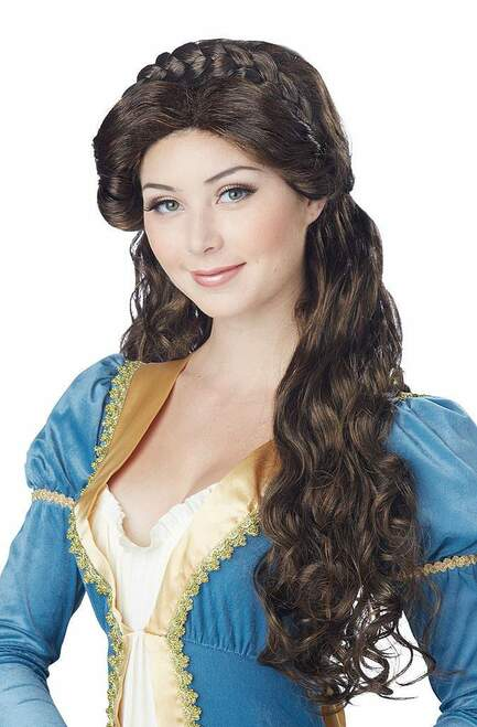 Medieval Beauty Brunette Wig
