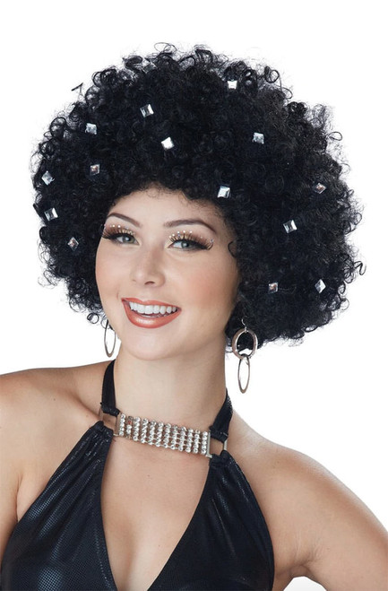 Party All Night Disco Afro Wig