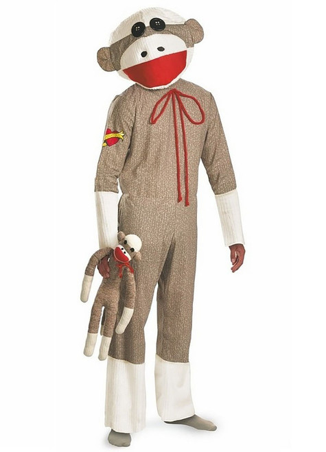Sock Monkey Adult Costume