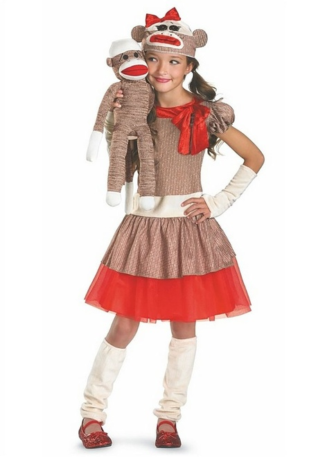Sock Monkey Girls Costumes