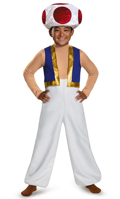 Super Mario Toad Child Costume