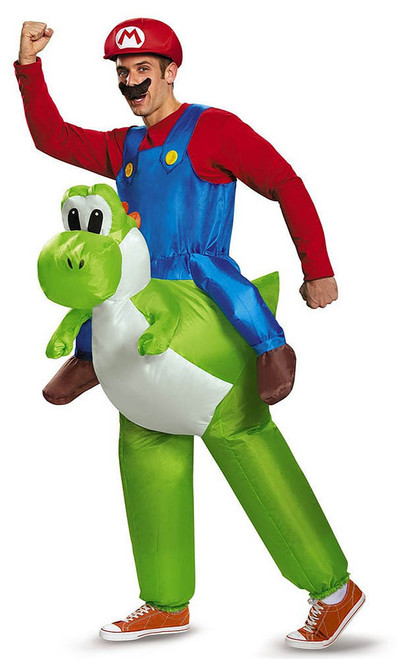 Super Mario Riding Yoshi Adult