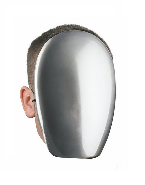 No Face Chrome Mask
