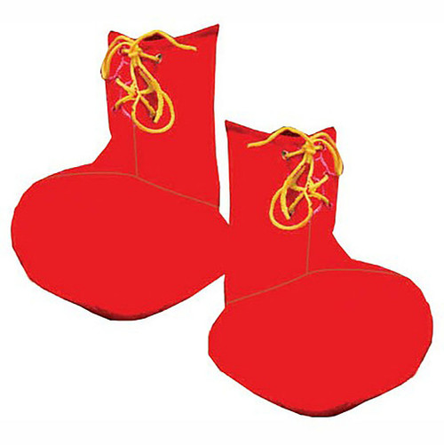Red Child Clown Shoe Covers
