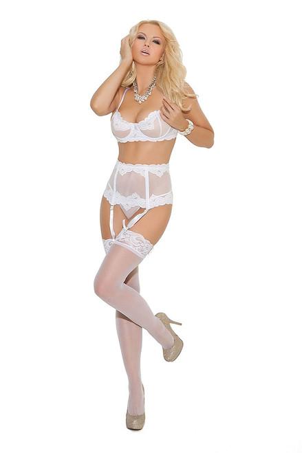Bridal bra waist cincher gstring set