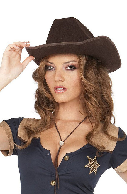 Dark Brown Cowgirl Hat