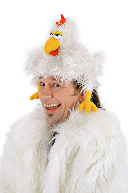 The Clucker Chicken Hat Adult