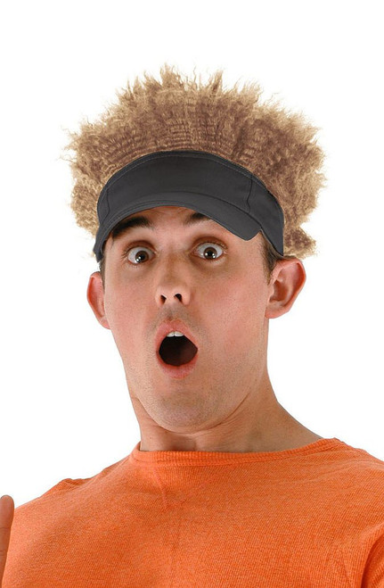Gray and Blonde Afro Visor