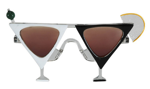 Martini Black & White Glasses