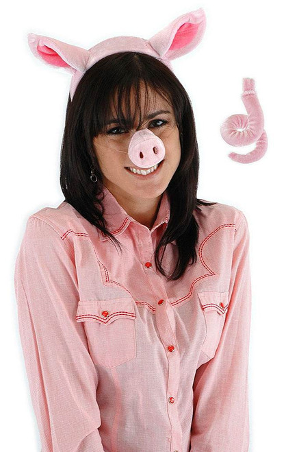 Pig Headband Nose & Tail Adult