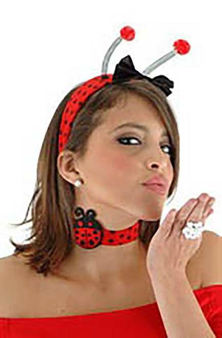 Ladybug Headband & Collar