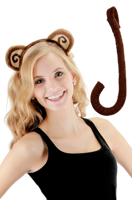 Monkey Ears and Tail Halloween Kit for Adults