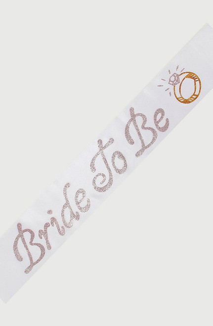 Sash Bride to Be White