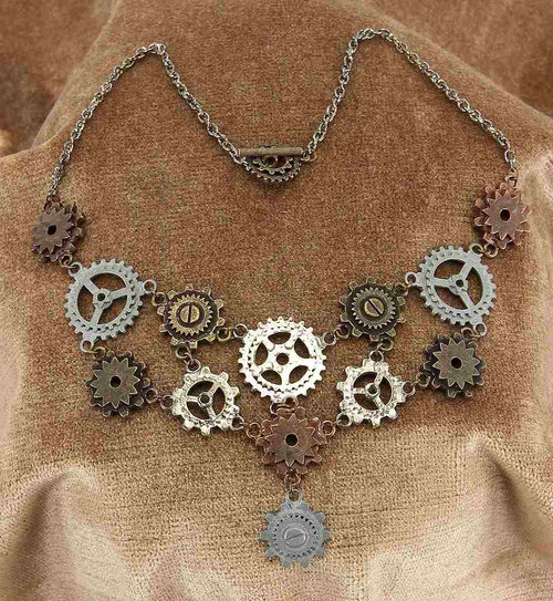 Gear Necklace & Earring Set